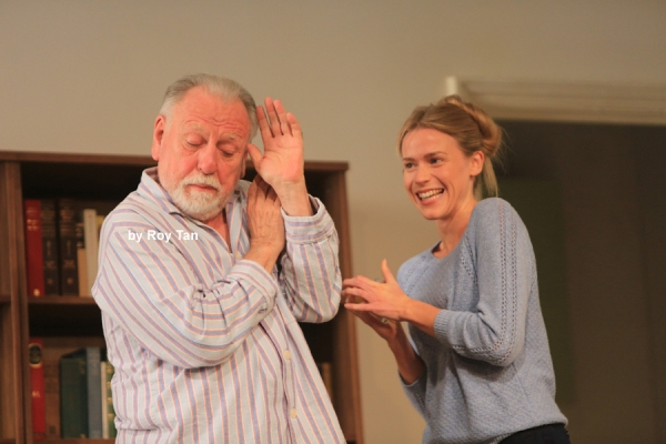 Kenneth Cranham with Kirsty Oswald