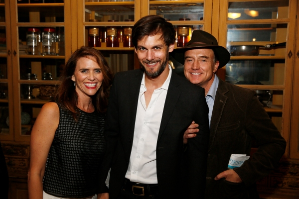 Actress Amy Landecker, Robert Beitzel and Bradley Whitford