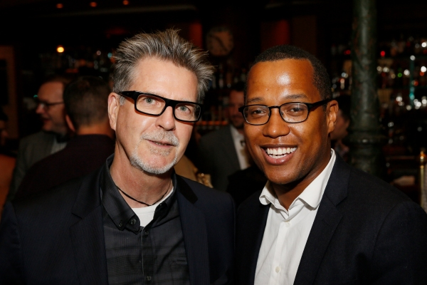 Robert Egan and playwright Branden Jacobs-Jenkins