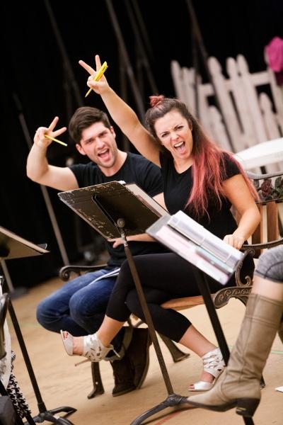 Samuel Edgerly (Jeff) and Desi Oakley (Tina Girlstar)  Photo