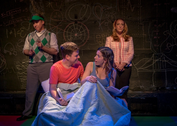Eric Bryant (Ben) and Sarah Sirota (Amy), foreground, with Adam LeBow and Melissa Teitel