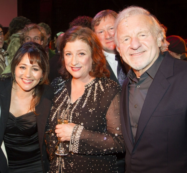 Frances Ruffelle, Caroline Quentin and Colm Wilkinson