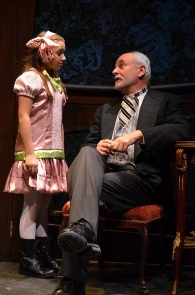 Olivia Mancuso as ''Iris'' and Craig MacDonald as ''Papa'' Photo