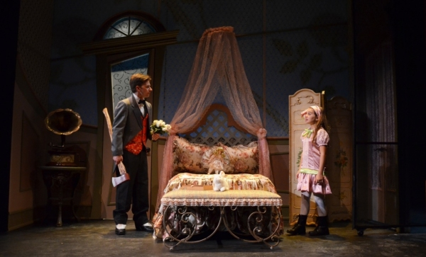 Christopher J. Young as ''Woodnut'' and Olivia Mancuso as ''Iris'' Photo