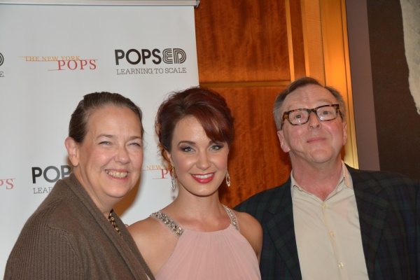 Harriet Harris, Sierra Boggess and Edward Hibbert