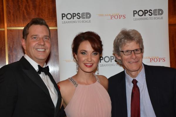 Steven Reineke, Sierra Boggess and Ted Chapin