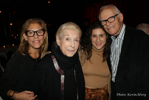 Julie Bergman, Marilyn Bergman, Emily Sender and Alan Bergman