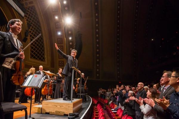 Alan Gilbert, Frank Huang & Orchestra Members