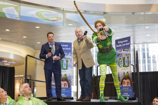 John Foxx, WPLJ, Sam Scalamoni, Director of ELF THE MUSICAL, and Buddy The Elf