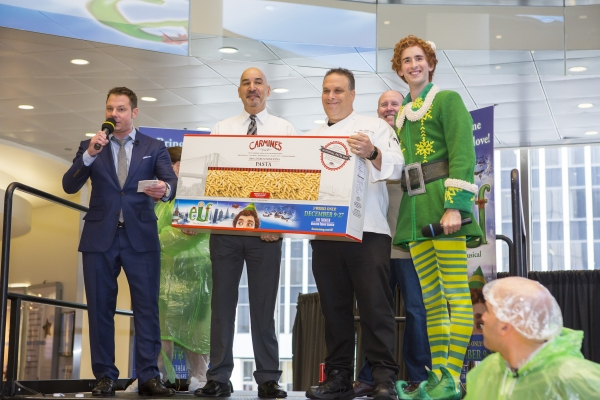 John Foxx, WPLJ, Antonio Rodriguez, NYC Department of Homeless Services, Glenn Rolnick, Director of Culinary Operations, Carmine''s, Sam Scalamoni, Director of ELF THE MUSICAL, and Buddy The Elf
