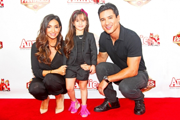 Mario Lopez and Wife Courtney with Daughter Gia