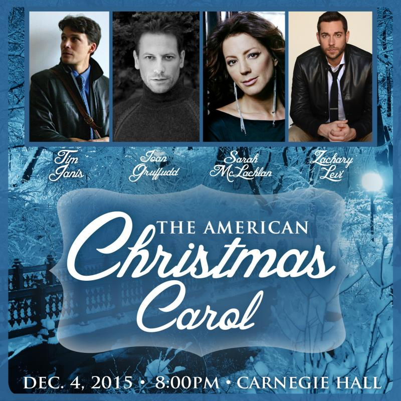 Zachary Levi & More Set for American Christmas Carol Benefit Concert