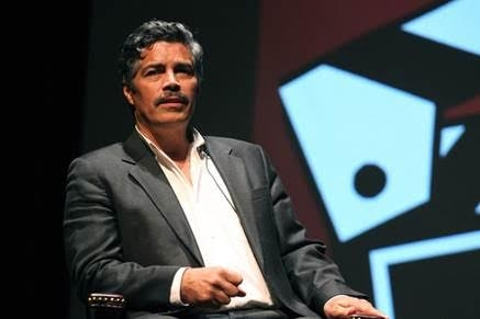 Esai Morales joins the panel discussion Photo