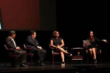 Esai Morales, Rick Najera, Cristela Alonzo and Soledad O''Brien in the panel discussion