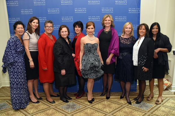 Jean Shafiroff poses with members of New York Women''s Foundation board of directors Photo