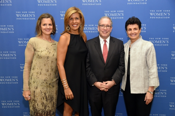 Anne Delaney, News anchor Hoda Kotb, New York City Comptroller Scott Stringer and President & CEO of The New York Women''s Foundation Ana Oliveira
