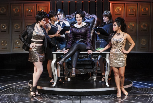 Donna Migliaccio (Daniella Espere) with Jamie Eacker (Neela), Kellee Knighten Hough (Ensemble), Nora Palka (Ensemble), Bayla Whitten (Ensemble) and Diana Huey (Piper)