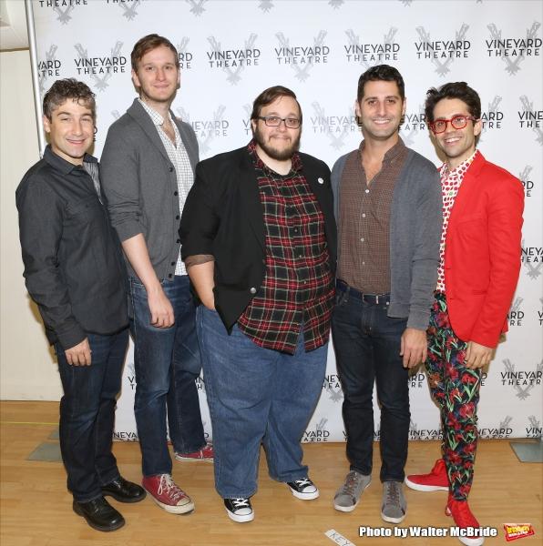 The creative team: Director Scott Schwartz, composer Matthew roi Berger lyricist/book writer Randy Blair, scribe Tim Drucker and choreographer Chase Brock