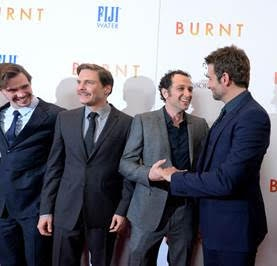 Sam Keeley, Daniel Bruhl, Matthew Rhys and Bradley Cooper