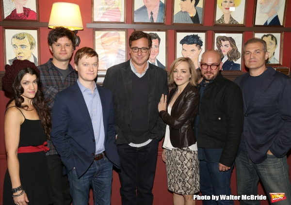 Sarah Stiles, Michael Oberholtzer, Steven Boyer, Bob Saget, Geneva Carr, playwright Robert Askins and Marc Kudisch