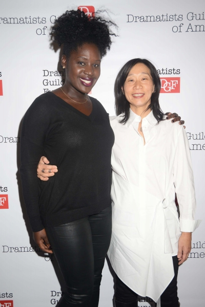 2014-15 Fellow Camille Darby with Program Chair Diana Son
