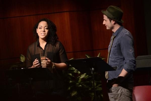 Lilli Cooper and Bryan Fenkart
