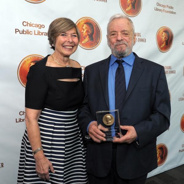 Foundation President Rhona Frazin with Stephen Sondheim