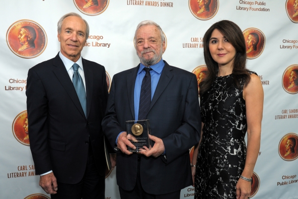 Stephen Sondheim with co-chairs Robert Wislow and Dina Yaghmai Payvar
