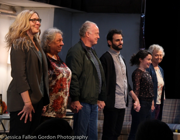 Cassie Beck, Jayne Houdyshell, Reed Birney, Arian Moayed, Sarah Steele and Lauren Kle Photo