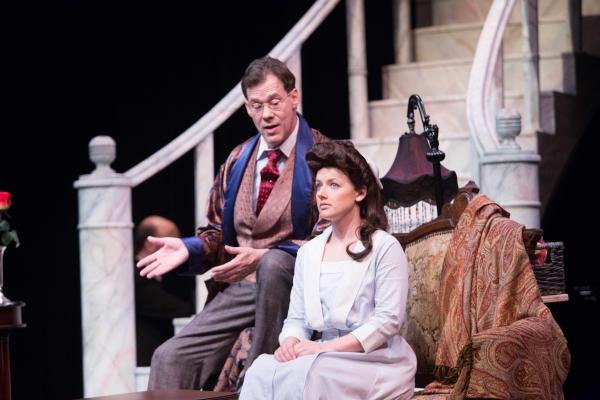 Joseph Fuqua (Henry Higgins) and Kimberly Hessler (Eliza Doolittle)