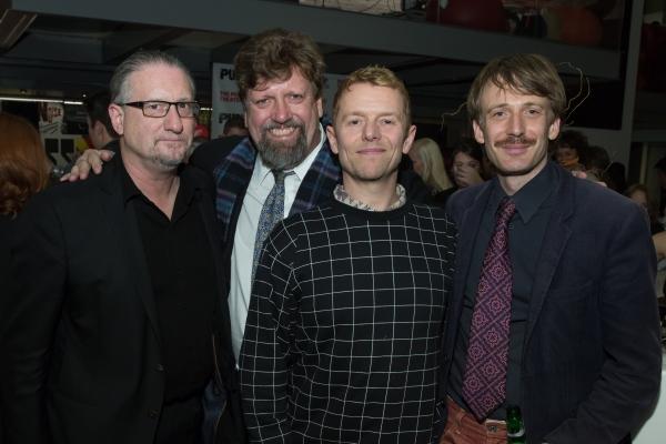 Mark Russell,  Oskar Eustis, and Simon Will and Bastian Trost Photo