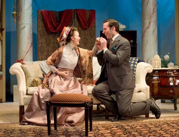 Ellen Adair as Gwendolyn Fairfax and Marc LeVasseur as Jack Worthing