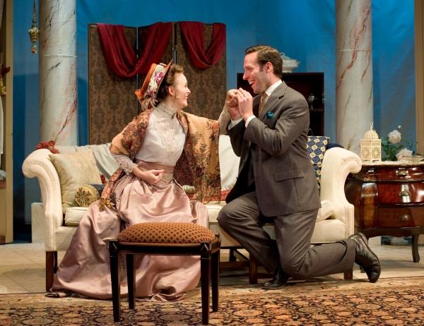Ellen Adair as Gwendolyn Fairfax and Marc LeVasseur as Jack Worthing
