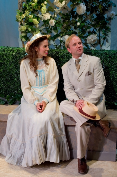 Maggie Wetzel as Cecily Cardew and Lenny Banovez as Algernon Moncrief