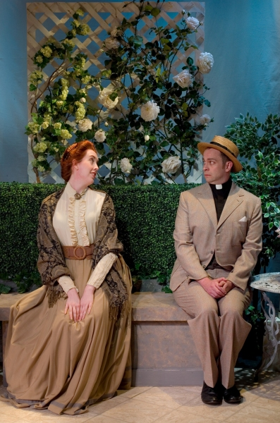 Christy Richardson as Miss Prism and John-Patrick Driscoll as Dr. Chasuble