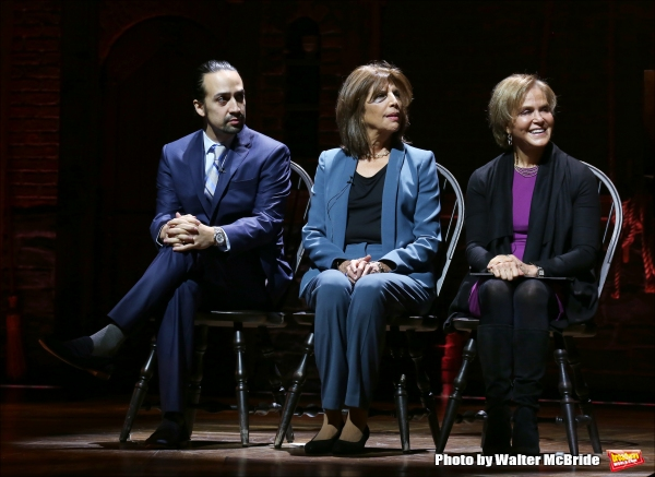 Lin-Manuel Miranda, Executive  of Lesley Herrmann of Gilder Lehrman and Rockefeller Foundation president Judith Rodin