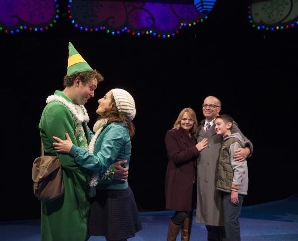 Alex Goodrich as Buddy, Dara Cameron as Jovie and family Photo