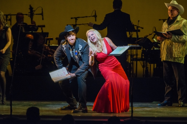 Andy Karl and Megan Hilty