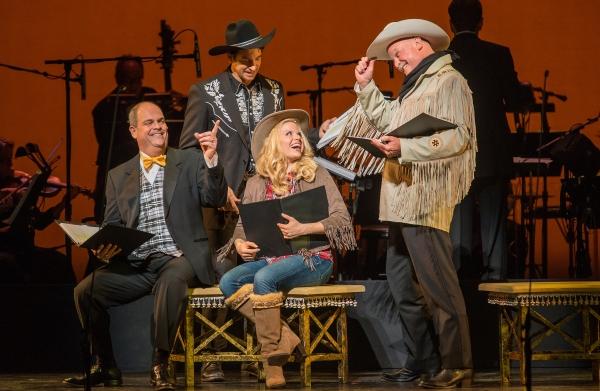 Brad Oscar, Andy Karl, Megan Hilty, Ron Raines