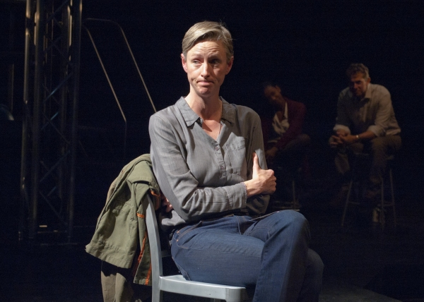 Ensemble member Kelli Simpkins portrays multiple roles, including a grieving mother Arleen Weise