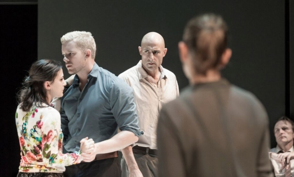 Phoebe Fox, Russell Tovey and Mark Strong Photo