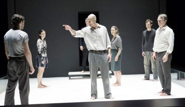 A View from the Bridge Production Photo - Mark Strong and company