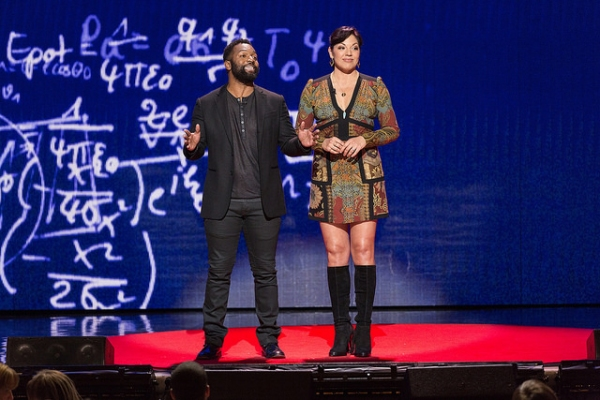 Sara Ramirez and Baratunde Thurston Photo