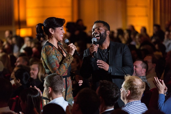 Sara Ramirez and Baratunde Thurston