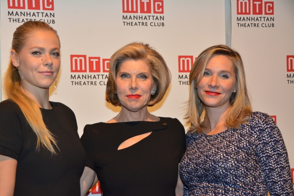Christine Baranski with her daughters Lily Cowles and Isabel Cowles