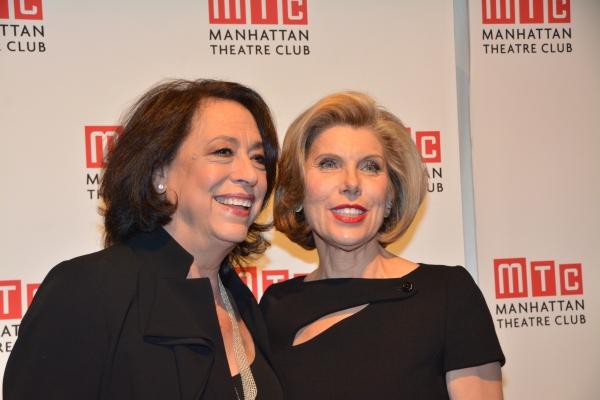 Lynne Meadow (Artistic  Manhattan Theatre Club) and Christine Baranski