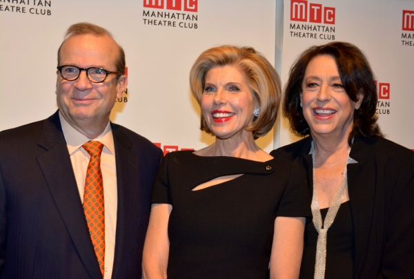 Barry Grove (Executive Producer Manhattan Theatre Club), Christine Baranski and Lynne Meadow