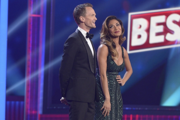 BEST TIME EVER WITH NEIL PATRICK HARRIS -- Episode 108 -- Pictured: (l-r) Neil Patrick Harris, Nicole Scherzinger -- (Photo by: Virginia Sherwood/NBC)