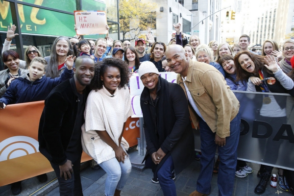TODAY -- Pictured: (l-r) Elijah Kelley, Shanice Williams, Ne-Yo, and David Alan Grier appear on the ''Today'' show on Tuesday, November 3, 2015 -- (Photo by: Heidi Gutman/NBC)