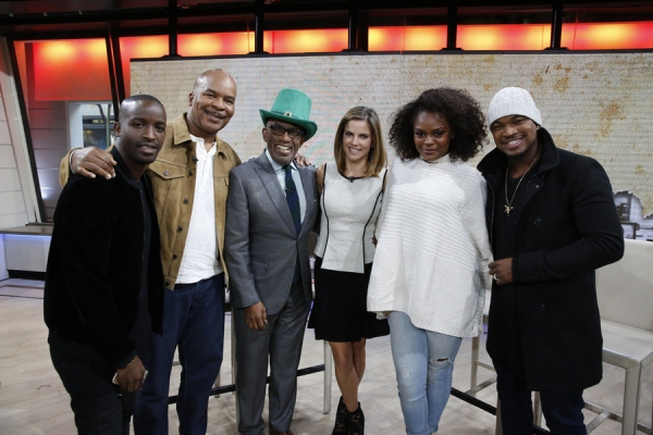 TODAY -- Pictured: (l-r) Elijah Kelley, David Alan Grier, Al Roker, Natalie Morales, Shanice Williams, and Ne-Yo appear on the ''Today'' show on Tuesday, November 3, 2015 -- (Photo by: Heidi Gutman/NBC)